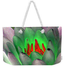 Weekender Tote Bag featuring the photograph The Water Lilies Collection - Photopower 1123 by Pamela Critchlow