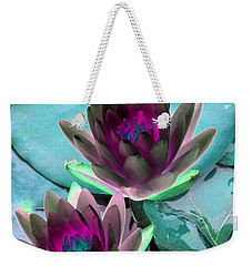 Weekender Tote Bag featuring the photograph The Water Lilies Collection - Photopower 1124 by Pamela Critchlow