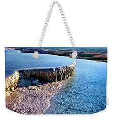 The Water With White Paint Weekender Tote Bag by Zafer Gurel