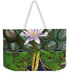 The Waterlily Weekender Tote Bag by Laura Forde