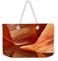 The Wave With Reflection Weekender Tote Bag by Jerry Fornarotto