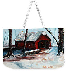 Weekender Tote Bag featuring the painting The Way Home by Meaghan Troup