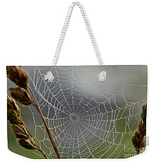 Weekender Tote Bag featuring the photograph The Web by Kerri Farley