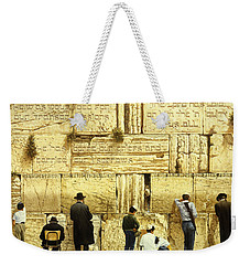 The Western Wall  Jerusalem Weekender Tote Bag by Graham Braddock