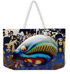 The Whale Flight Weekender Tote Bag by Rosa Cobos