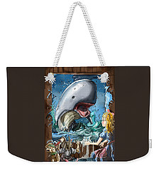Weekender Tote Bag featuring the painting The Whale by Reynold Jay