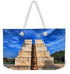 Weekender Tote Bag featuring the photograph The White City by Ron Shoshani