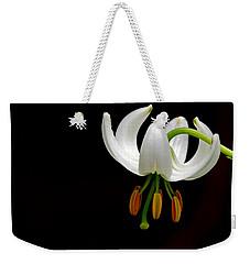 The White Form Of Lilium Martagon Named Album Weekender Tote Bag