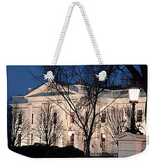 Weekender Tote Bag featuring the photograph The White House At Dusk by Cora Wandel