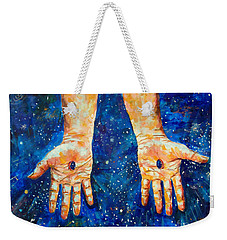 The Whole World In His Hands Weekender Tote Bag by Lou Ann Bagnall