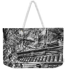 Weekender Tote Bag featuring the photograph The Winding Stairs by Howard Salmon