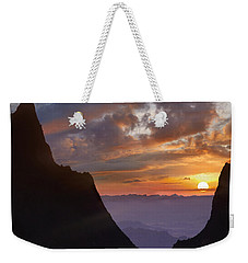 The Window At Sunset Big Bend Np Texas Weekender Tote Bag