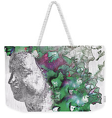 Weekender Tote Bag featuring the digital art The Woman From Yes by Nola Lee Kelsey