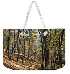 Weekender Tote Bag featuring the photograph The Woods by William Norton