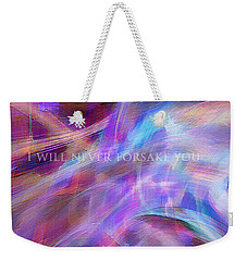 The Writing's On The Wall Weekender Tote Bag by Margie Chapman