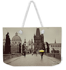 The Yellow Umbrella Weekender Tote Bag by Ivy Ho