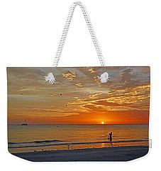Weekender Tote Bag featuring the photograph The Young Fisherman by HH Photography of Florida