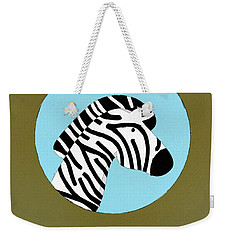 The Zebra Cute Portrait Weekender Tote Bag by Florian Rodarte