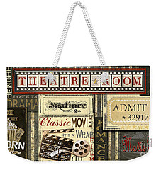 Theatre Room Weekender Tote Bag by Jean Plout