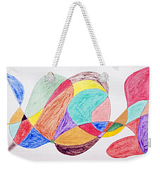 Weekender Tote Bag featuring the painting Theme Parks by Stormm Bradshaw