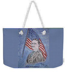 Weekender Tote Bag featuring the painting Theodore Roosevelt by Kathy Marrs Chandler