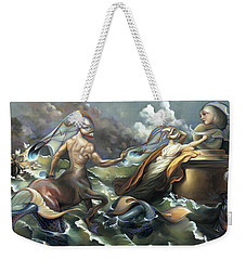 There's Something Fowl Afloat Weekender Tote Bag by Patrick Anthony Pierson