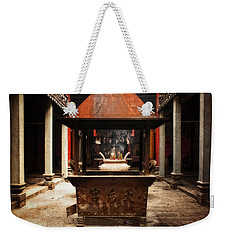 Weekender Tote Bag featuring the photograph Thien Hau Temple  by Lucinda Walter