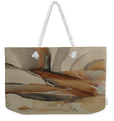 Weekender Tote Bag featuring the painting Thinker by Mike Breau