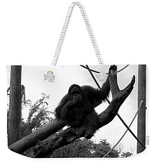 Weekender Tote Bag featuring the photograph Thinking Of You Black And White by Joseph Baril