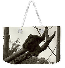 Weekender Tote Bag featuring the photograph Thinking Of You Sepia by Joseph Baril