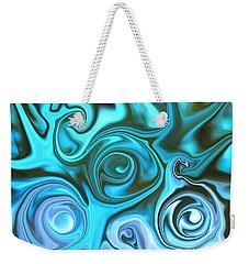 Turquoise  - Satin Swirls Weekender Tote Bag
