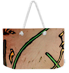 Weekender Tote Bag featuring the painting Thirteen by Jacqueline McReynolds