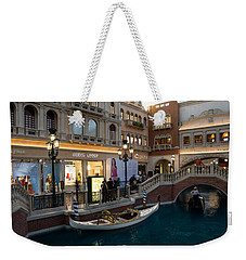 It's Not Venice - The White Wedding Gondola Weekender Tote Bag
