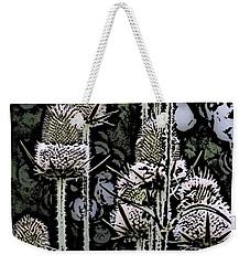 Weekender Tote Bag featuring the digital art Thistle  by David Lane