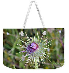 Thistle Flower Weekender Tote Bag by George Atsametakis