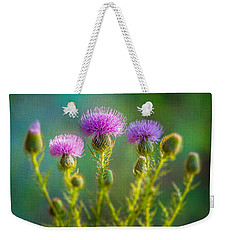 Thistle In The Sun Weekender Tote Bag