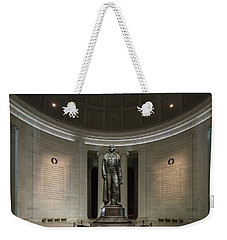 Weekender Tote Bag featuring the photograph Thomas Jefferson Memorial At Night by Sebastian Musial