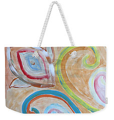Weekender Tote Bag featuring the painting Thought by Sonali Gangane