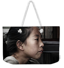 Weekender Tote Bag featuring the photograph Thoughts by Lucinda Walter