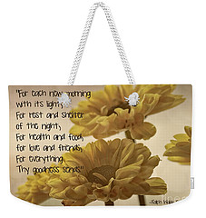 Thoughts Of Gratitude Weekender Tote Bag
