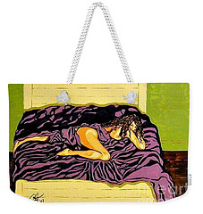 Weekender Tote Bag featuring the painting Thoughts Of You by Jackie Carpenter