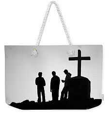 Three At The Cross Weekender Tote Bag