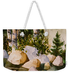 Three Birch By Rocky Stream Weekender Tote Bag