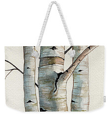 Three Birch Trees Weekender Tote Bag