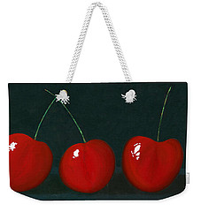 Three Cherries Weekender Tote Bag