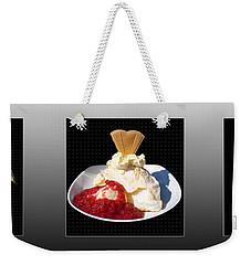 Weekender Tote Bag featuring the photograph Three Course Meal by Terri Waters