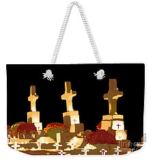 Weekender Tote Bag featuring the photograph Louisiana Artistic Cemetery by Luana K Perez