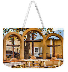 Three Crosses Of El Santuario De Chimayo Weekender Tote Bag