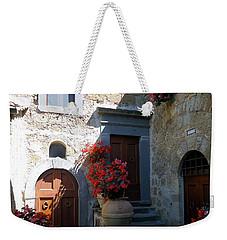 Three Doors In Bagnoregio Weekender Tote Bag