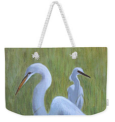 Three Egrets  Weekender Tote Bag